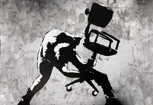 Banksy London Calling Wall Mural Wallpaper - Canvas Art Rocks - 1