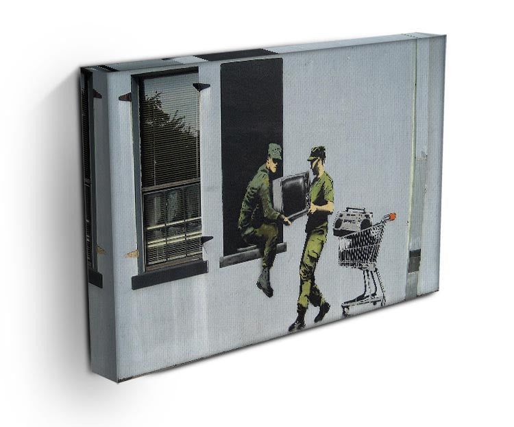 Banksy Looting Soldiers Print - Canvas Art Rocks - 3