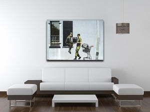 Banksy Looting Soldiers Print - Canvas Art Rocks - 4