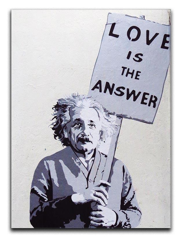 Banksy Love Is The Answer Canvas Print or Poster  - Canvas Art Rocks - 1