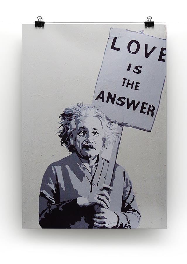 Banksy Love Is The Answer Canvas Print or Poster - Canvas Art Rocks - 2