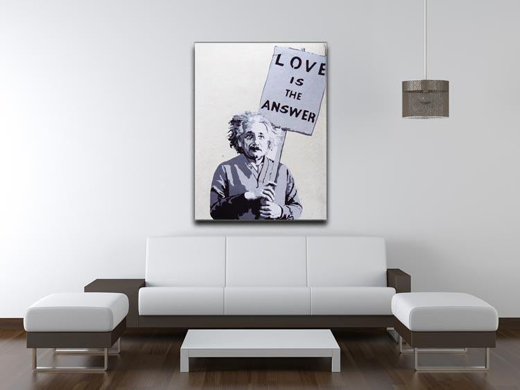 Banksy Love Is The Answer Canvas Print or Poster - Canvas Art Rocks - 4