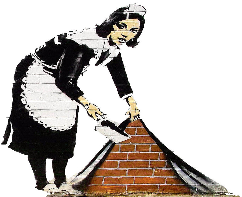 Banksy Maid Wall Decal - US Canvas Art Rocks
