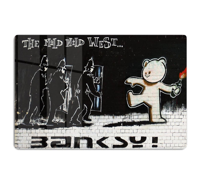 Banksy Mild Mild West HD Metal Print