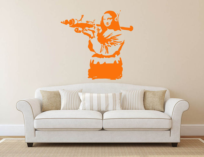 Banksy Mona Lisa Wall Sticker