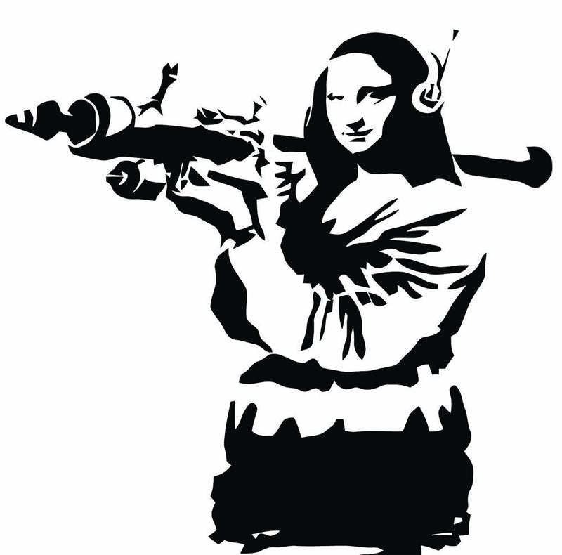Banksy Mona Lisa Wall Decal - US Canvas Art Rocks