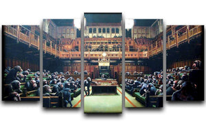 Banksy Monkey Parliament 5 Split Panel Canvas  - Canvas Art Rocks - 1