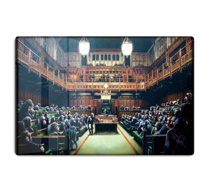 Banksy Monkey Parliament HD Metal Print