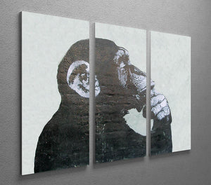 Banksy The Thinker Monkey 3 Split Canvas Print - Canvas Art Rocks