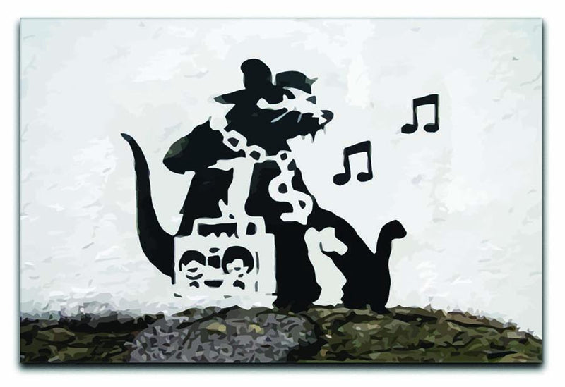 Banksy Music Rat Canvas Print or Poster  - Canvas Art Rocks - 1