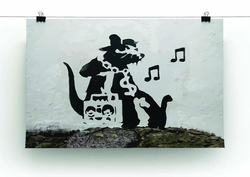 Banksy Music Rat Canvas Print or Poster - Canvas Art Rocks - 2