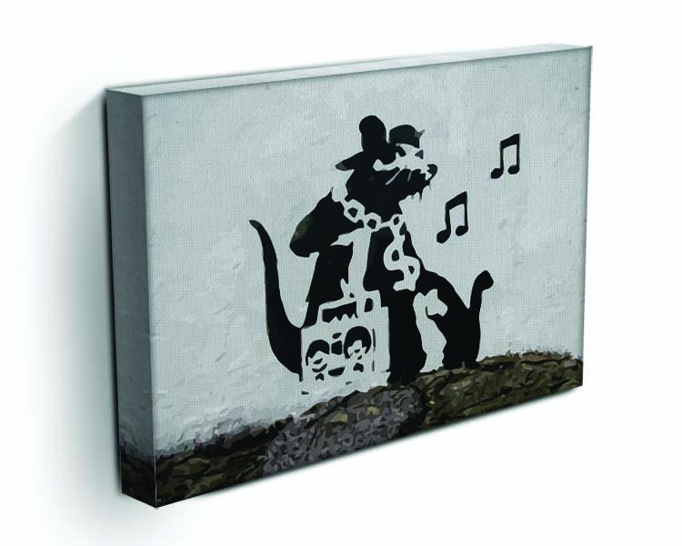 Banksy Music Rat Canvas Print or Poster - Canvas Art Rocks - 3