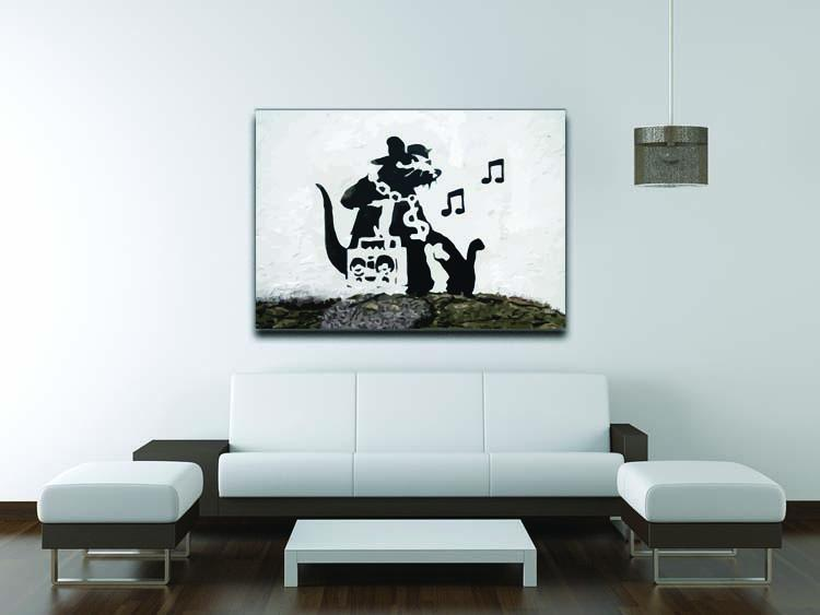 Banksy Music Rat Canvas Print or Poster - Canvas Art Rocks - 4