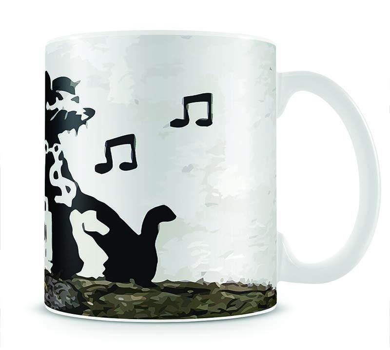 Banksy Music Rat Cup - Canvas Art Rocks - 1