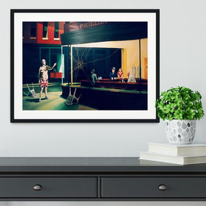 Banksy Nighthawks Framed Print - Canvas Art Rocks - 1