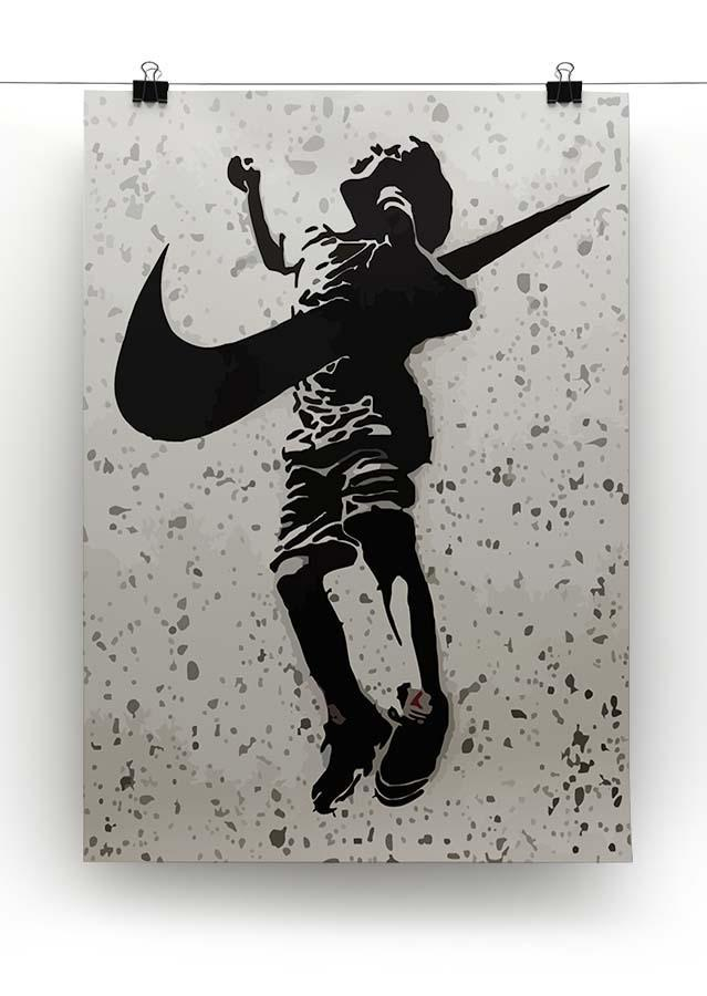 Banksy Nike Canvas Print or Poster - Canvas Art Rocks - 2