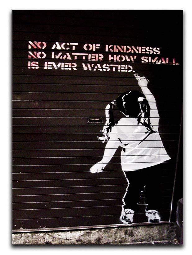 Banksy No Kindness Canvas Print or Poster  - Canvas Art Rocks - 1