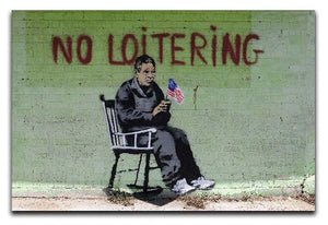 Banksy No Loitering Canvas Print or Poster  - Canvas Art Rocks - 1