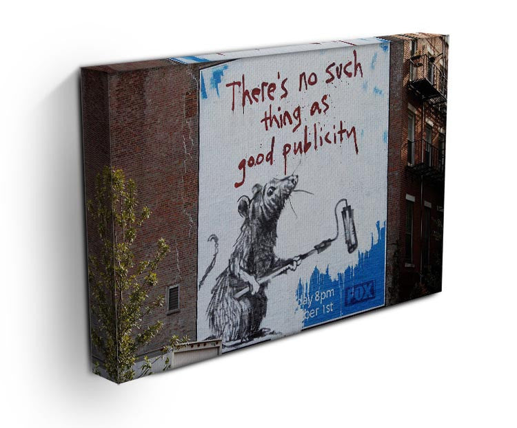Banksy No Such Thing As Good Publicity Print - Canvas Art Rocks - 3