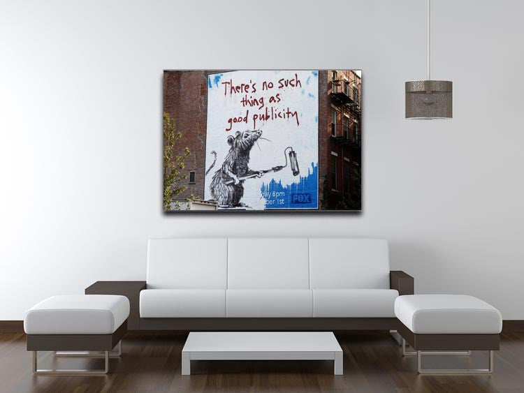 Banksy No Such Thing As Good Publicity Print - Canvas Art Rocks - 4