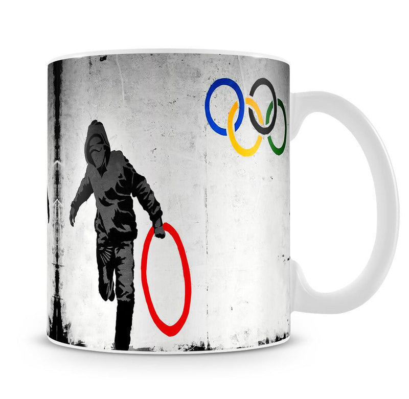 Banksy Olympic Rings Looter Cup - US Canvas Art Rocks