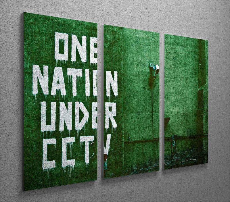 Banksy One Nation Under CCTV 3 Split Panel Canvas Print - US Canvas Art Rocks