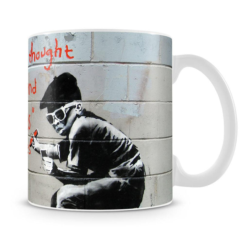 Banksy One Original Thought Cup - US Canvas Art Rocks