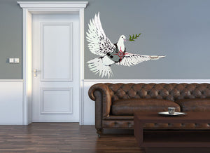 Banksy Peace Dove Wall Decal - US Canvas Art Rocks