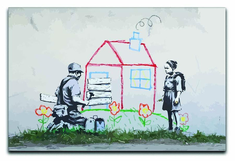 Banksy Play House Canvas Print or Poster  - Canvas Art Rocks - 1
