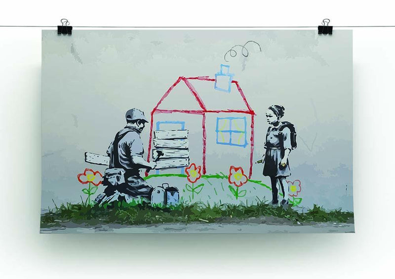 Banksy Play House Canvas Print or Poster - Canvas Art Rocks - 2