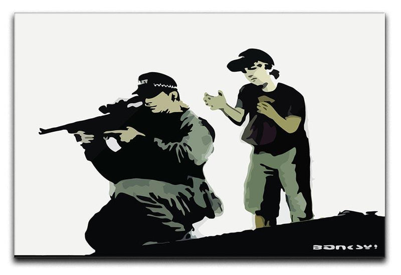 Banksy Police Sniper Canvas Print or Poster  - Canvas Art Rocks - 1