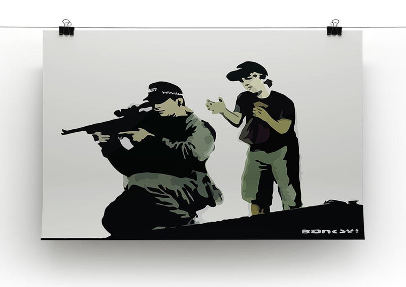 Banksy Police Sniper Canvas Print or Poster - Canvas Art Rocks - 2