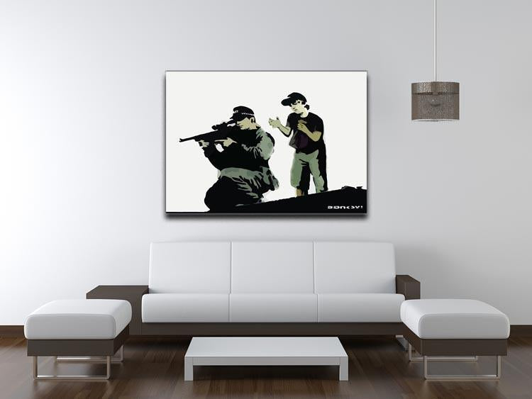 Banksy Police Sniper Canvas Print or Poster - Canvas Art Rocks - 4