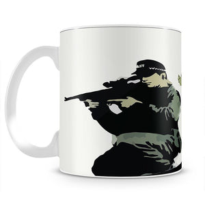 Banksy Police Sniper Mug - Canvas Art Rocks - 4