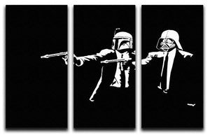 Banksy Pulp Fiction Star Wars 3 Split Panel Canvas Print - US Canvas Art Rocks