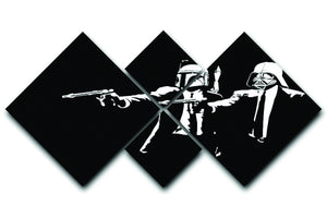 Banksy Pulp Fiction Star Wars 4 Square Multi Panel Canvas  - Canvas Art Rocks - 1