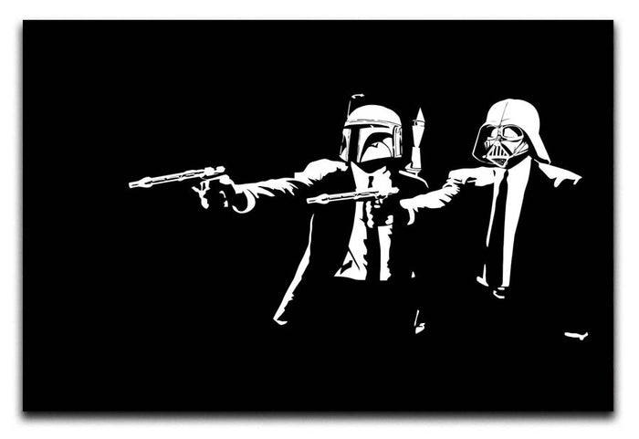 Banksy Pulp Fiction Star Wars Canvas Print or Poster