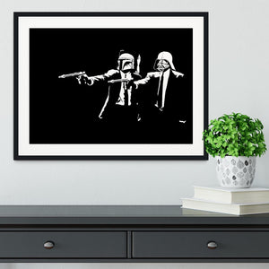Banksy Pulp Fiction Star Wars Framed Print - Canvas Art Rocks - 1