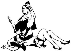 Banksy Queen Victoria Wall Decal - US Canvas Art Rocks