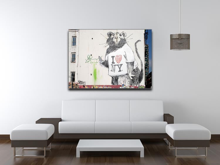 Banksy Rat I Love New York Print - Canvas Art Rocks - 4