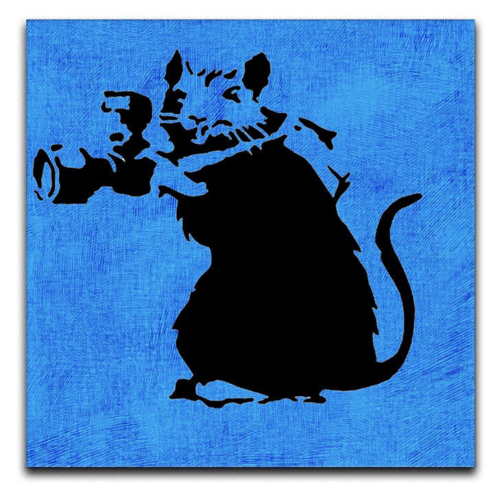 Banksy Rat With Camera Print - Canvas Art Rocks - 3