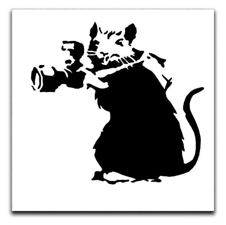 Banksy Rat With Camera Print - Canvas Art Rocks - 1