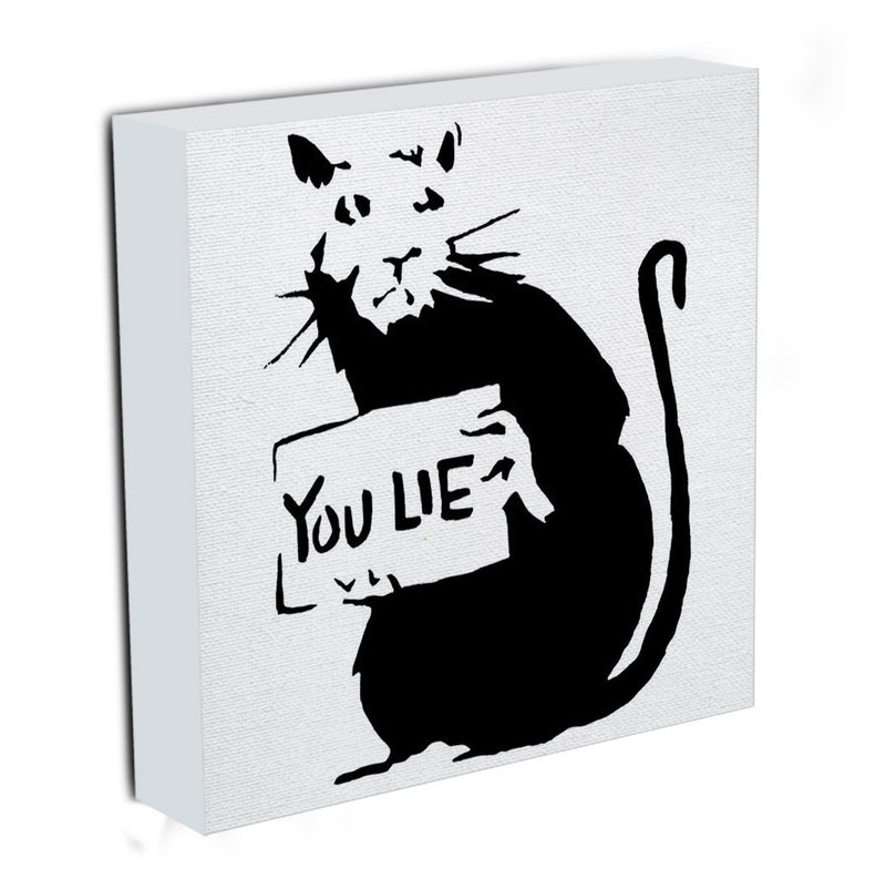 Banksy Rat You Lie Canvas Print & Poster - US Canvas Art Rocks