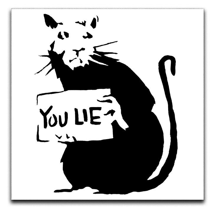 Banksy Rat You Lie Print - Canvas Art Rocks - 1