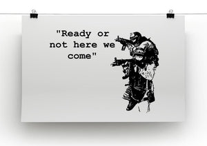 Banksy Ready Or Not Canvas Print or Poster - Canvas Art Rocks - 2