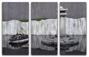 Banksy Refugee 3 Split Panel Canvas Print - Canvas Art Rocks
