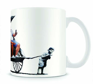 Banksy Rickshaw Kid Mug - Canvas Art Rocks - 1