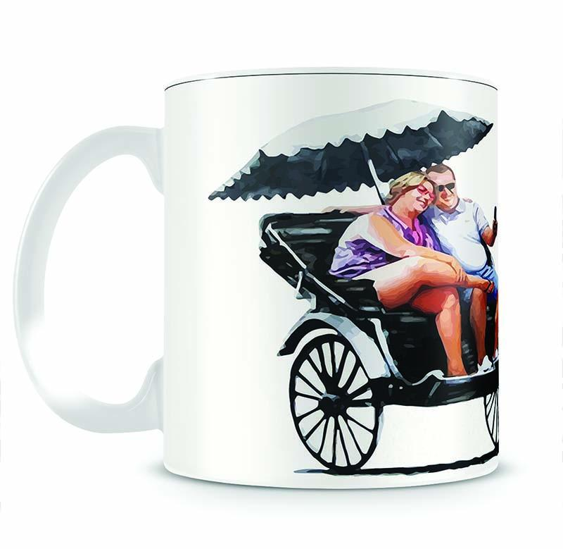 Banksy Rickshaw Kid Cup - Canvas Art Rocks - 2
