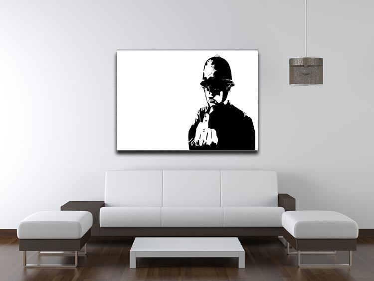 Banksy Rude Policeman Print - Canvas Art Rocks - 4