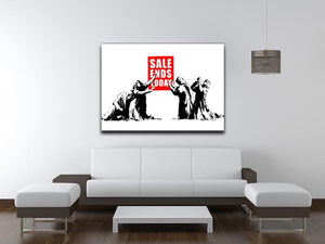 Banksy Sale Ends Today Print - Canvas Art Rocks - 4